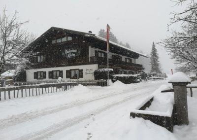 Schneetreiben in Hinterstein
